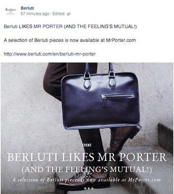 Berluti eases into ecommerce exclusively with Mr Porter - Luxury Daily - Internet | Aline Jost | Scoop.it