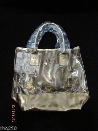 GUESS George Marciano Small Clear Bronze Tote Handbag | mode | Scoop.it