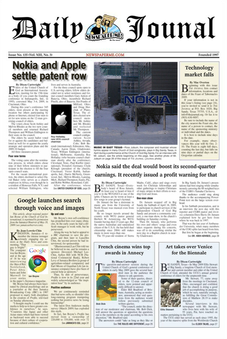Newspaper Me! - Be the news! | Technology Ideas | Scoop.it