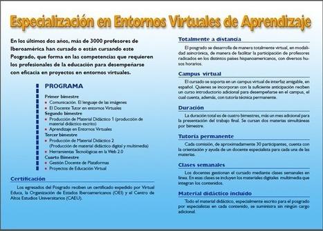 Virtual Educa: Posgrado Internacional en Entornos Virtuales de Aprendizaje - RedDOLAC - Red de Docentes de América Latina y del Caribe - | RedDOLAC | Scoop.it