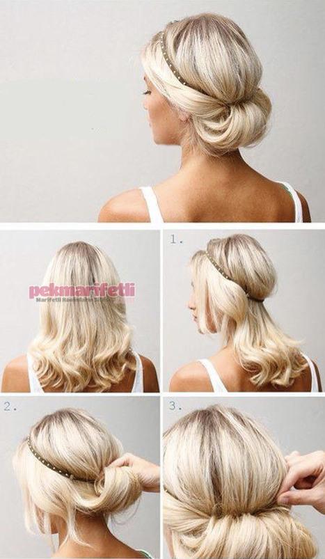 Saç bandıyla ense topuzu yapımı | Saç Modelleri | Pek Marifetli! | KADIN SİTESİ | Scoop.it