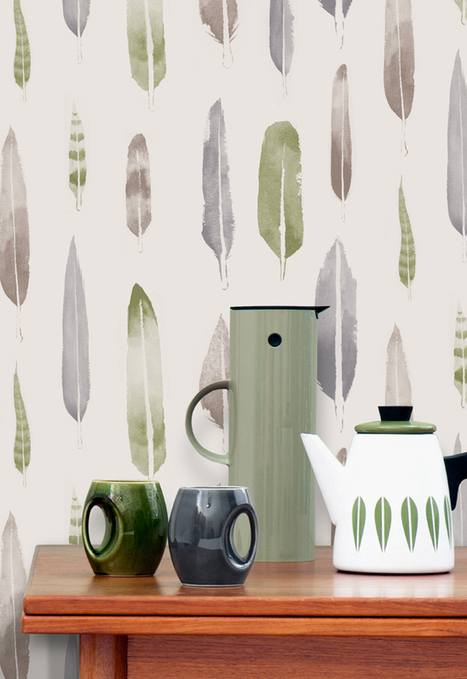 Happy Interior Blog: 'Feathers' Wallpaper By Mini Moderns & Matt Sewell | Design | Scoop.it
