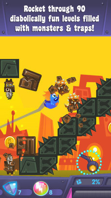 Rocket Through 90 Diabolically Fun Levels Yumby Smash App | Best iPhone Apps and iPad Apps | Scoop.it
