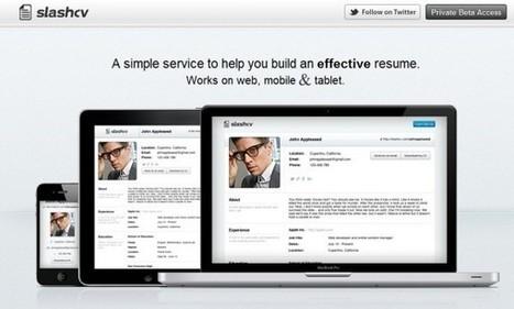 SlashCv | Crea tu CV para que sea visible desde cualquier dispositivo. | MLKtoSCL | Scoop.it