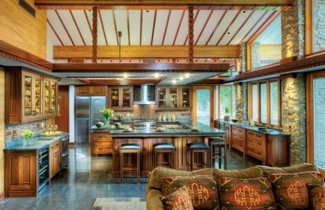 A Frank Lloyd Wright-Inspired Kitchen - Old-House Online | Kitchens | Scoop.it