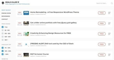 Deals Killer : des outils et des ressources à moindre coût pour les professionnels du web - Blog du Modérateur | Chef de Projet Web | Scoop.it