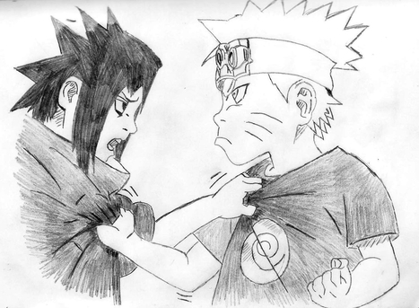 Sasuke VS Naruto - Drawing | Dibujo | Scoop.it