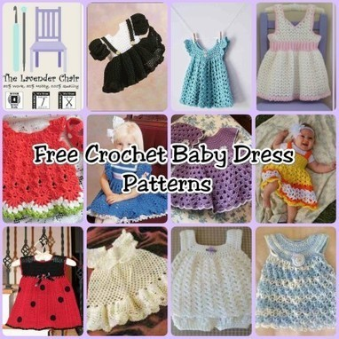 10 Pretty and FREE Baby Dress Crochet Patterns | Crochet Street | Crochet, Knit, Patterns, and Fiber | Scoop.it