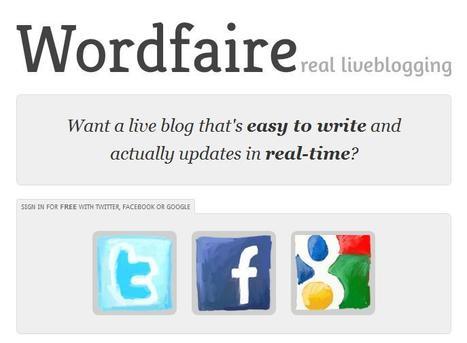 Wordfaire live blogging   Social media kitbag   Scoop.it