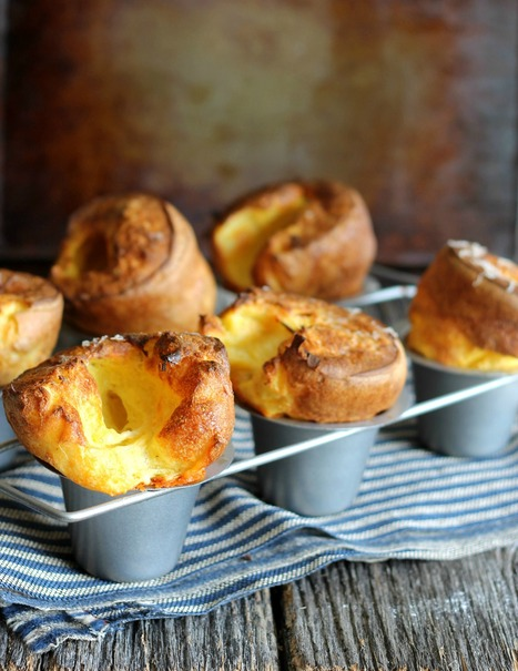 White Cheddar Popovers | The Man With The Golden Tongs Hands Are In The Oven | Scoop.it