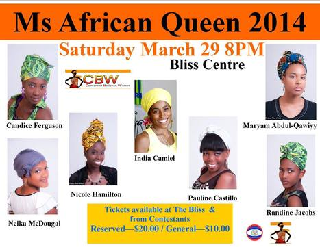Ms. African Queen Pageant is this Saturday, March 29th at the Bliss Center in Belize City | Travel - Things to do in Belize | Scoop.it