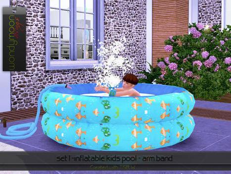 Une piscine gonflable pour vos petits sims l for Sims 4 meuble a telecharger