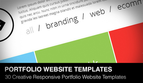 30 Creative Responsive Portfolio Website Templates Coded with HTML5 | Daily Design Notes | Scoop.it
