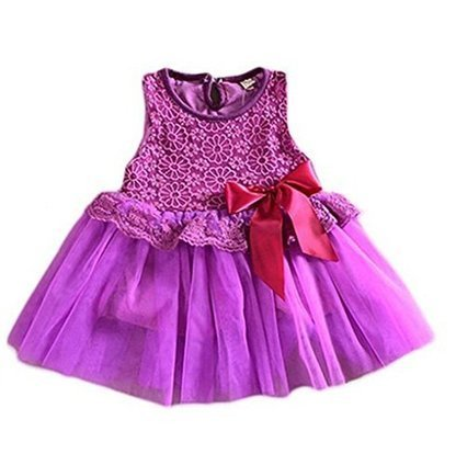 Baby Girls One Piece Floral Dress Lace Bowknot Party Ballet Skirts (130cm for 3-4 Years, Purple) | Health and Beauty Care | Scoop.it