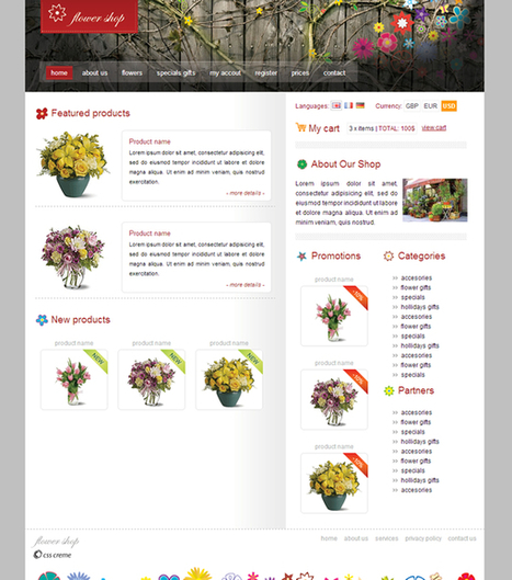E-commerce | Free HTML Website Templates | Website Templates and Themes | Scoop.it