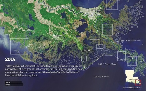 Watch how Louisiana's coastline has vanished over the last 80 years | Lorraine's Environmental Change &  Management | Scoop.it