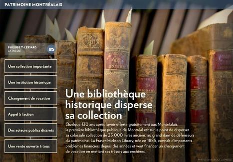 Une bibliothèque historique disperse sa collection - La Presse+ | Gecko | Scoop.it