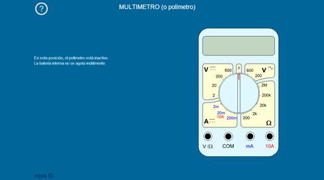 MULTIMETRO | la animación flash interactiva para entender el multímetro y sus tres funciones: voltímetro, amperímetro y óhmetro | tecno4 | Scoop.it