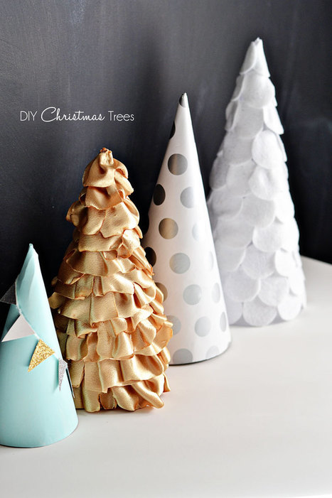Christmas Craft: Paper, Fabric & Felt Trees | Kids Craft | Scoop.it
