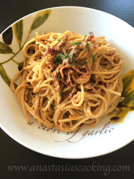 Vegan Creamy Sun-Dried Tomato Pasta Recipe | Anastasia's Food Blog | Delicious Food Recipes | My Vegan recipes | Scoop.it