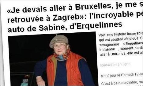 L'essentiel Online - Elle se rend à Bruxelles via… Zagreb - Insolites | Merveilles - Marvels | Scoop.it