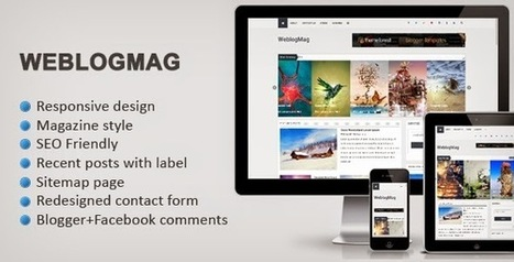 Weblogmag Responsive Magazine Blogger template | Blogspot templates | Scoop.it