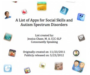A List of Apps for Social Skills and Autism Spectrum Disorders by ... | Social Media: Changing Our World of Education | Scoop.it
