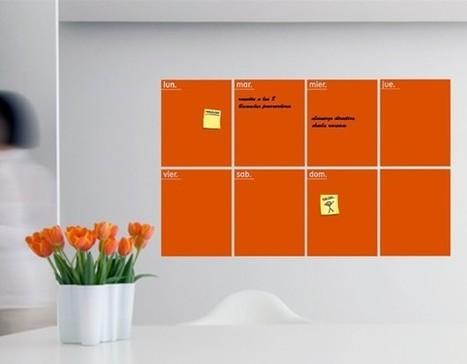Pizarra de vinilo adhesivo para oficina decor for Pizarra oficina