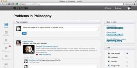Lectrio - Online Learning Environment | Classroom tools | MOOC | Scoop.it
