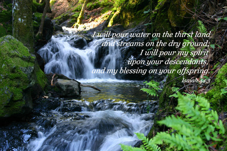 Isaiah 44.3 Poster - I will pour water on the thirst land and streams on the dry ground... | Resources for Catholic Faith Education | Scoop.it