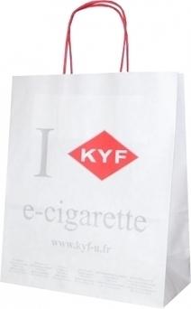 Un sac personnalisé pour les cigarettes électroniques Kyf   Sac papier publicitaire   Scoop.it