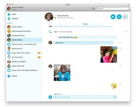 Skype For Windows And Mac Gets A Brand New UI, Enhanced IM Features, Download It Now! | Redmond Pie | LibertyE Global Renaissance | Scoop.it