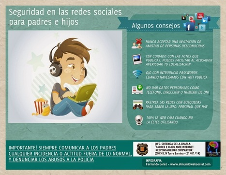 Seguridad en las Redes Sociales para padres en hijos #infografia #infographic #socialmedia | orientacion | Scoop.it