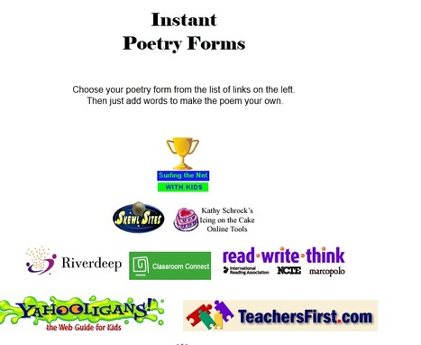 ETTC's new and improved Poetry Forms | AdLit | Scoop.it