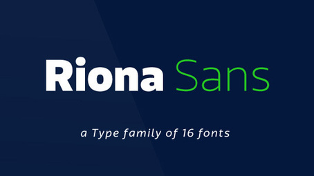 Font of the day: Riona Sans   Typography   Creative Bloq   Graphic Design   Scoop.it