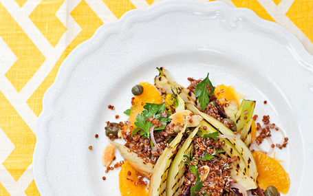 The new vegetarian: grilled fennel and red-quinoa salad recipe | The Authentic Food & Wine Experience | Scoop.it