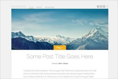 Serene - Elegant Themes First Free WordPress Theme - WP Daily Themes | WordPress Themes | Scoop.it