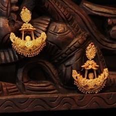 Temple Jewellery Earrings, Jhumkas   Gold Plated Temple Earrings Online : Madhurya   Kurtis, Sarees, Jewellery   Scoop.it