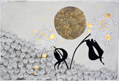 """Thought-Provoking Golden Dot Paintings Meticulously Map """"Islands of Emotions""""   Le It e Amo ✪   Scoop.it"""
