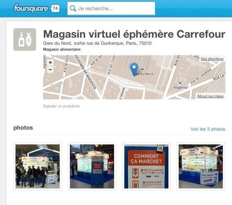 [Marque] Carrefour lance des magasins virtuels éphémères et utilise Foursquare - Up 2 Social | Innovations urbaines | Scoop.it