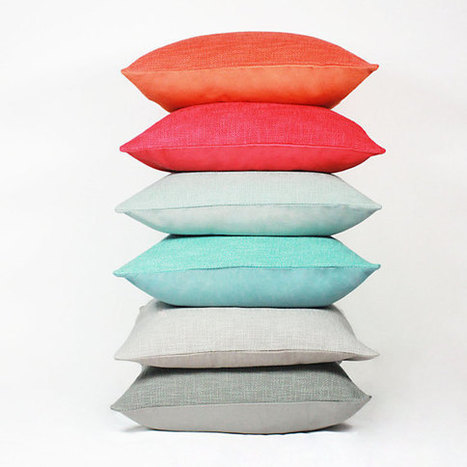 Textured Solid Classic Cushion | Decorative Throw Pillow | darch | Scoop.it