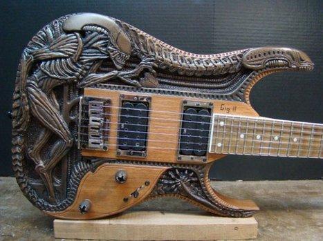 Guitar is Hand-Carved Homage to Giger's Alien | Maker Stuff | Scoop.it