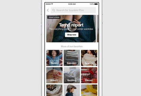 Pinterest launches dedicated shopping section | Socialdigitalnews | Scoop.it