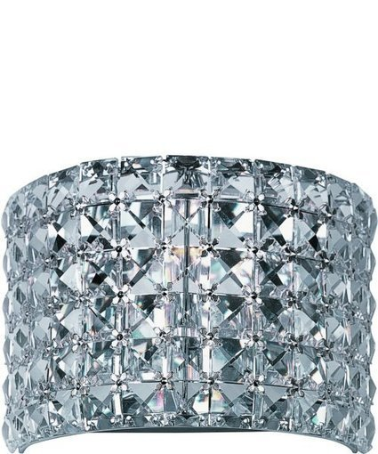 """Maxim 8""""w Vision 1-Light Wall Sconce Polished Chrome 