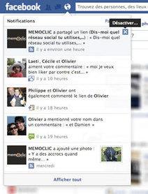Facebook : supprimer rapidement une notification indésirable | lea... | Scoop.it