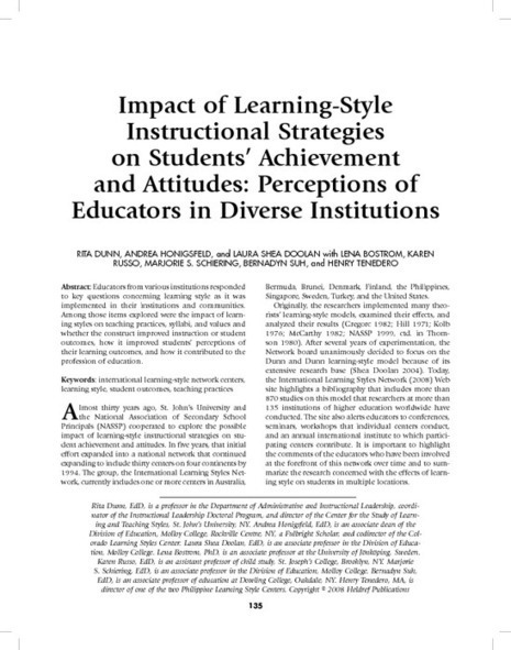 learning style - PDF | English Language Learners in the Classroom | Scoop.it