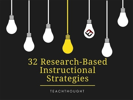 32 Research-Based Instructional Strategies - | TeachThought | Scoop.it