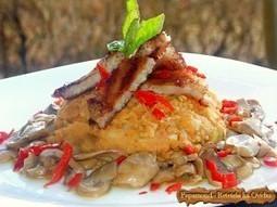 Piept de pui cu piure de linte si ciuperci sote | Food and recipes | Scoop.it