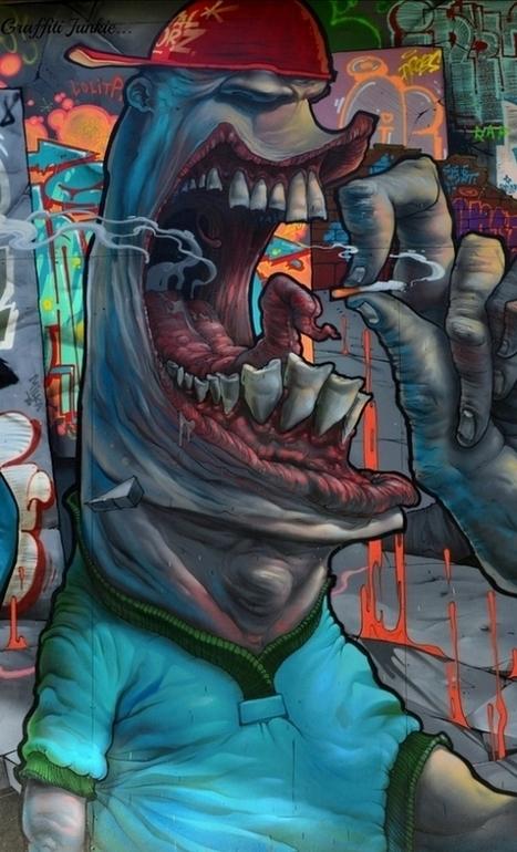 Hier is graffiti geen vandalisme, maar absolute kunst | guildofcreativeart | Scoop.it