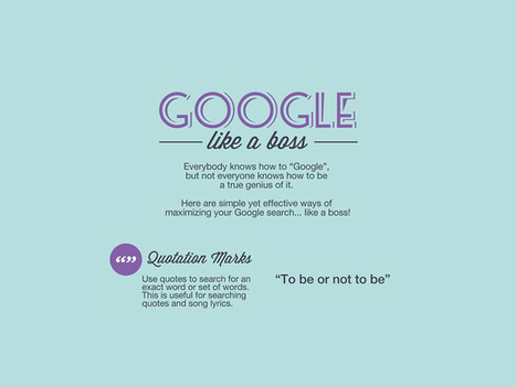 7 Simple Google Tips To Search Like A Boss | technology and curriculum transformation | Scoop.it